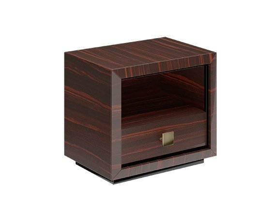 Square solid wood bedside table with drawers KUBO by Capital Collection