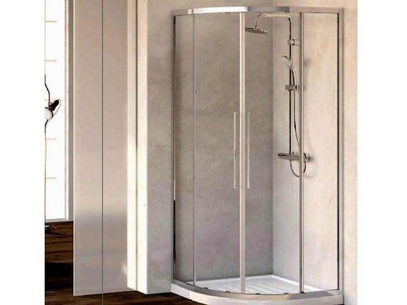 Corner tempered glass shower cabin KUBO - mod. R - Ideal Standard Italia