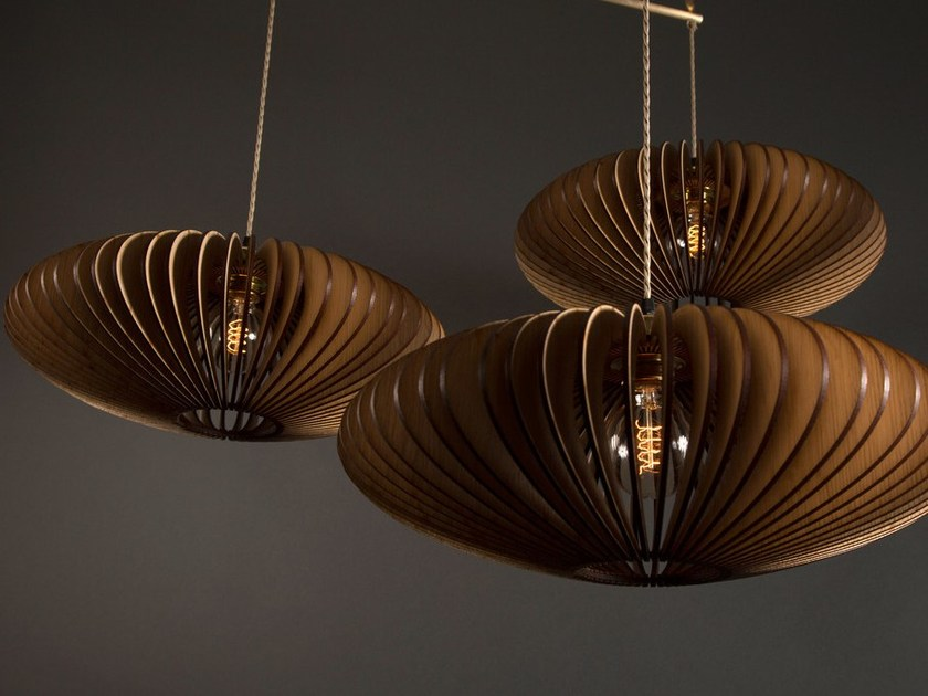 English oak pendant lamp KUHMO TRIPLE - Cameron Design House