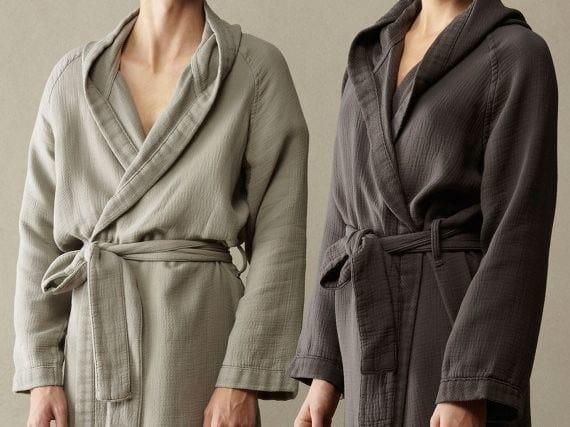 Cotton soft double face kimono robe KUR - Society Limonta