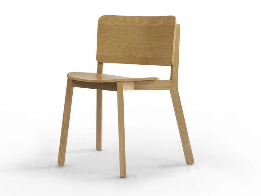 Stackable oak chair KURVE CHAIR - Specimen Editions