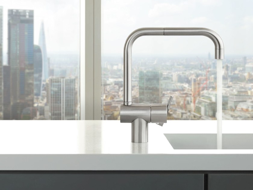 Countertop 1 hole kitchen mixer tap with swivel spout KV1 | Kitchen mixer tap by VOLA