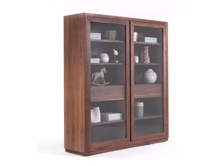 Wood and glass display cabinet KYOTO GLASS CABINET - Riva 1920
