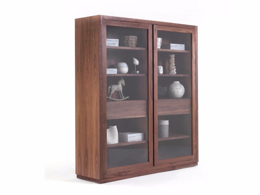 Wood and glass display cabinet KYOTO GLASS CABINET by Riva 1920