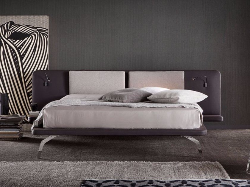 Imitation leather bed KYROS LARGE by Chaarme