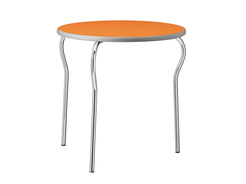 Stackable round steel table Kiron 401 - Metalmobil