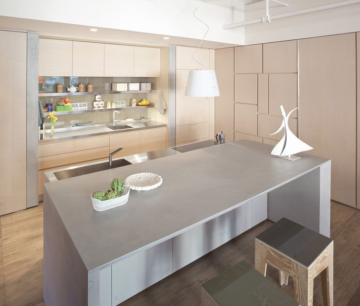 Kitchen with island without handles Kitchen without handles - TM Italia Cucine