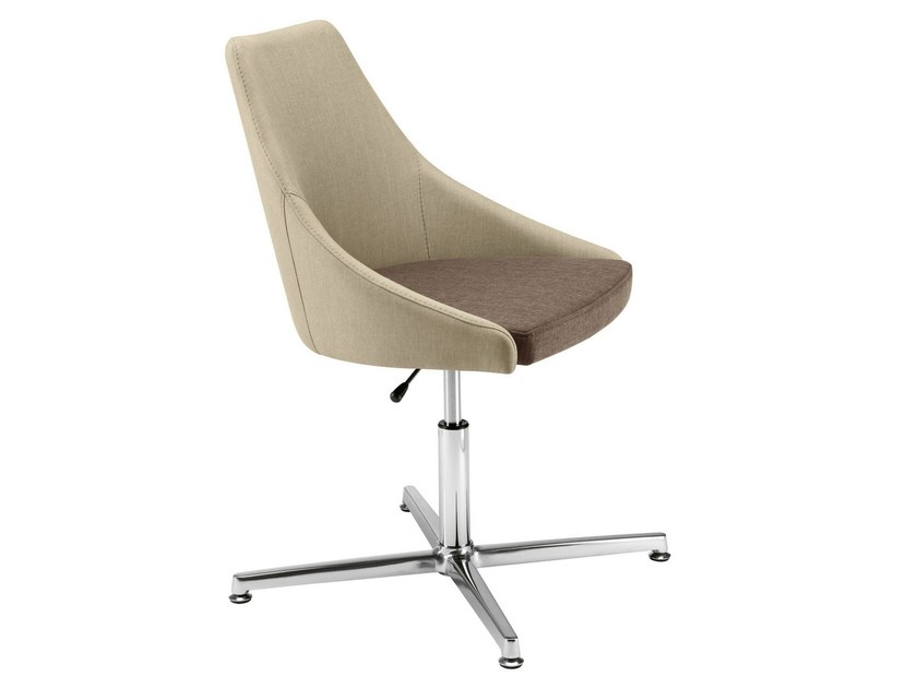 Upholstered easy chair with 4-spoke base Kontea 589 by Metalmobil