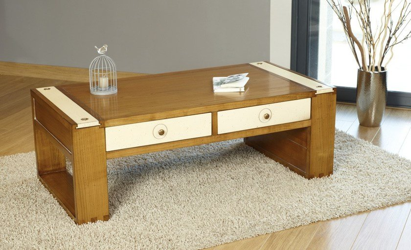 Rectangular wooden coffee table LÉO | Coffee table - DASRAS