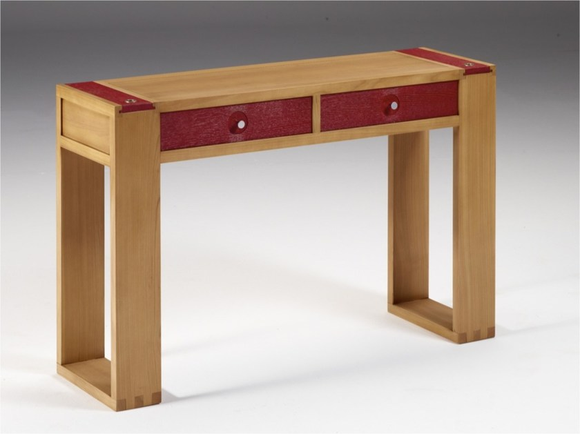 Wooden console table with drawers LÉO | Console table - DASRAS