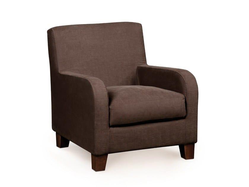 Fabric armchair with armrests LÉONE | Armchair - Home Spirit