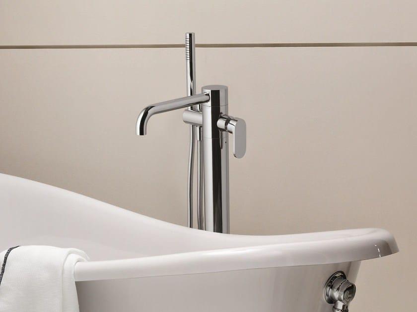Floor standing bathtub mixer with hand shower LINEA | Floor standing bathtub mixer by AZZURRA sanitari