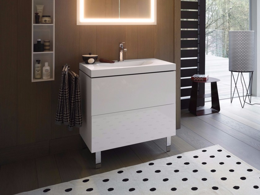 Wooden vanity unit with drawers L-CUBE C-BONDED | Vanity unit by Duravit