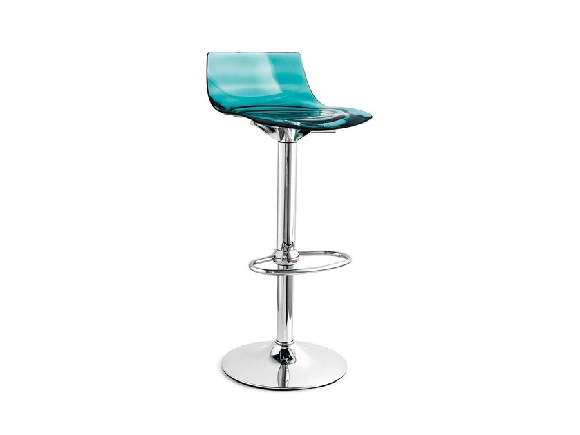 Stool with footrest L'EAU | Swivel stool - Calligaris