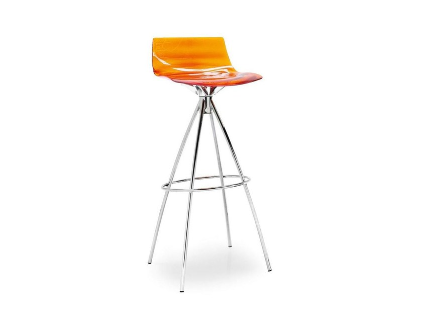 Stool with footrest L'EAU | Trestle-based stool - Calligaris