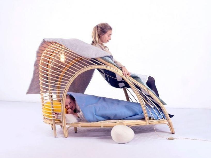 Wooden armchair / cot L'EMMITOUFLOIR - smarin