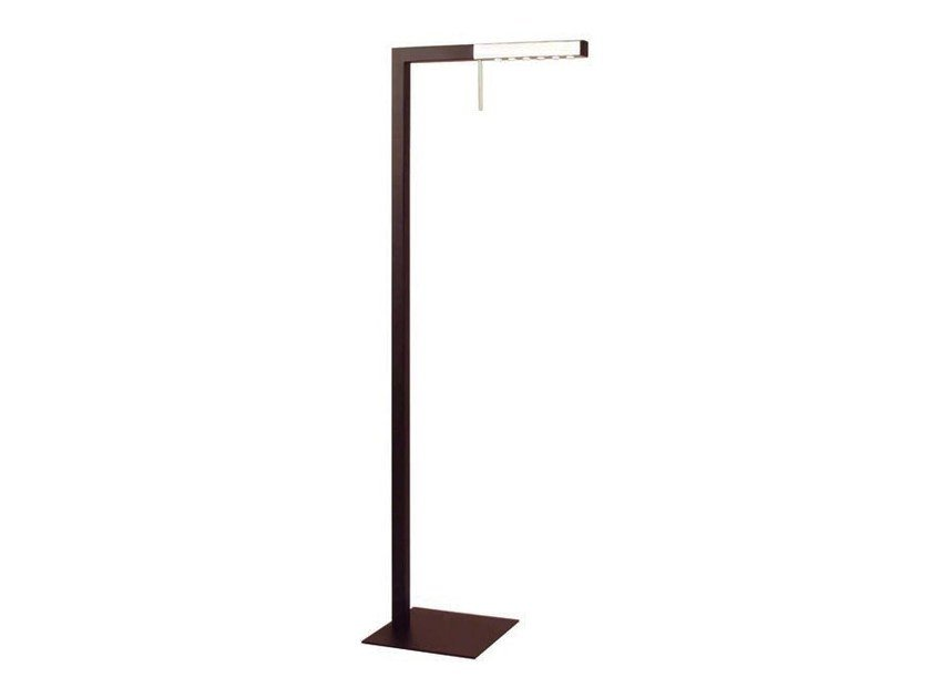 LED adjustable metal floor lamp L | LED floor lamp - Aromas del Campo