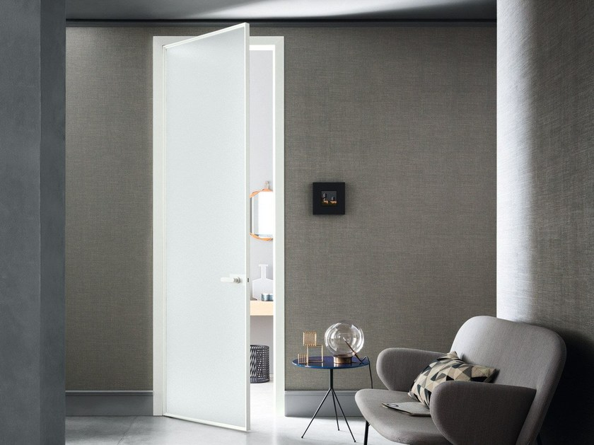 Hinged glass door L7 | Hinged door - Lualdi