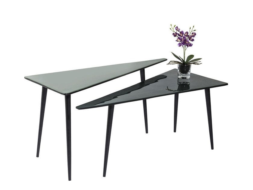 Triangular aluminium coffee table LA COSTA TRIANGLE - KARE-DESIGN