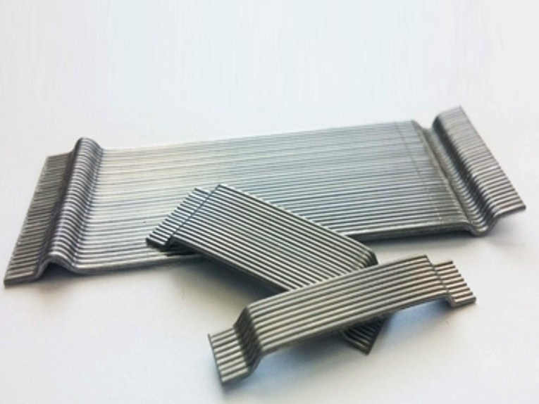 Glued steel fiber for concrete reinforcement LA GRAMIGNA PLACCHETTA-Fibre di rinforzo by LA MATASSINA