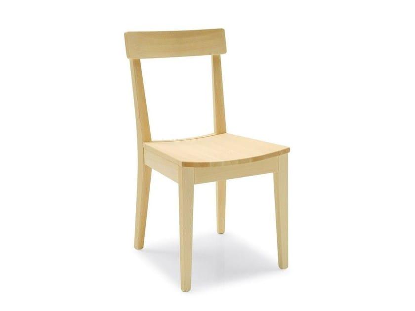 Open back beech chair LA LOCANDA   Beech chair - Calligaris