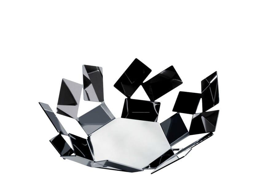 Stainless steel basket LA STANZA DELLO SCIROCCO | Basket - ALESSI