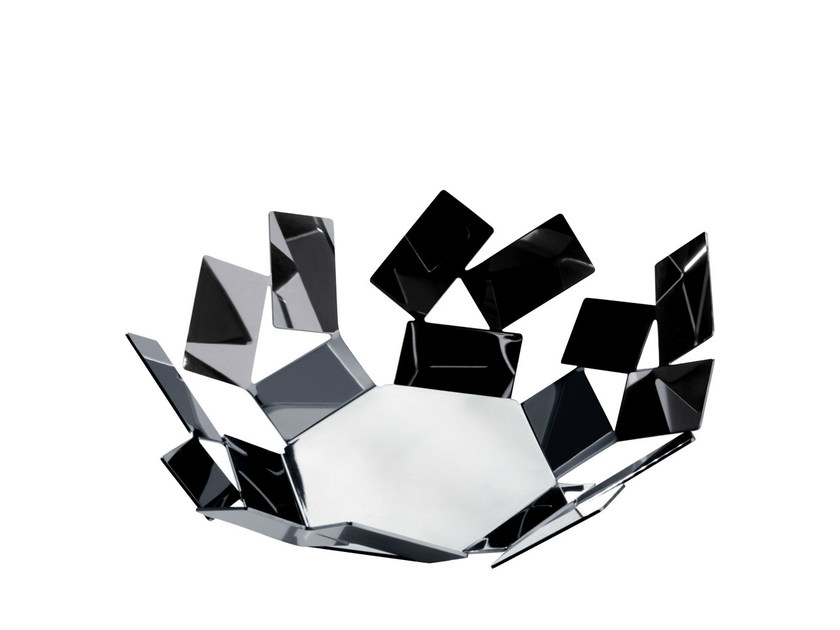Stainless steel basket LA STANZA DELLO SCIROCCO | Basket by Alessi