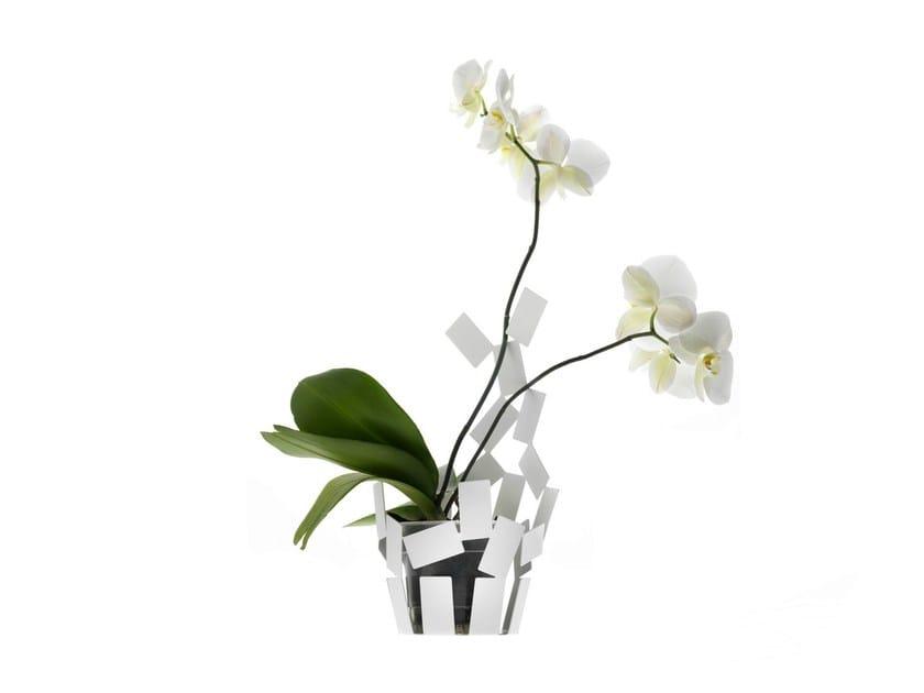 Contemporary style stainless steel plant pot LA STANZA DELLO SCIROCCO | Plant pot - ALESSI