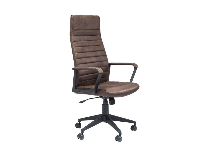 Polyester task chair with armrests LABORA HIGH - KARE-DESIGN