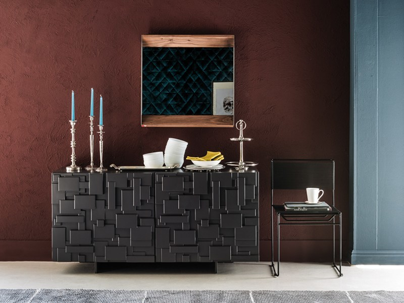 Wooden sideboard with doors LABYRINTH by Cattelan Italia