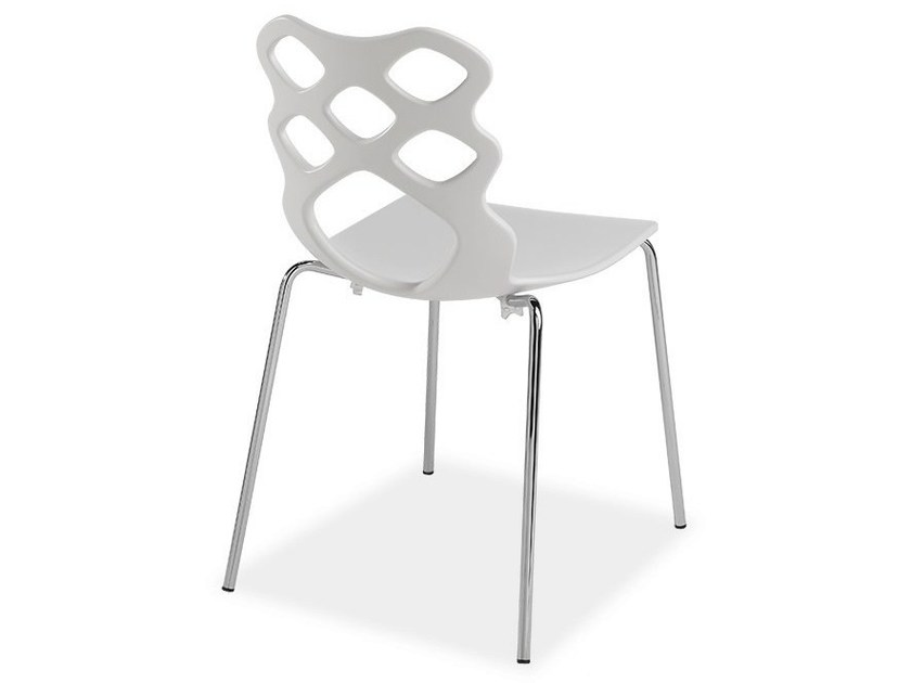 Stackable technopolymer chair LACE 4G - AREA DECLIC