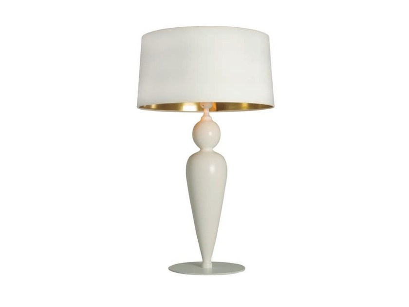 Wooden table lamp with fixed arm LACE - Aromas del Campo