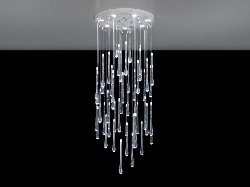 LED PMMA ceiling lamp with dimmer LACRIMA 6535 - Milan Iluminación