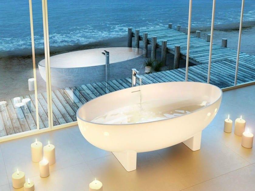 Vasca da bagno centro stanza ovale lacrima polo - Vasca da bagno ovale ...