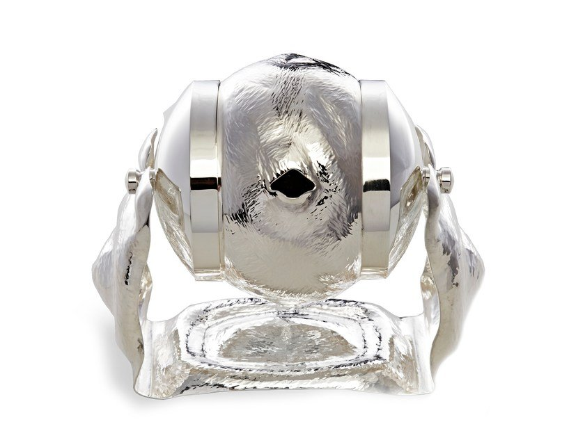 Dispenser di sapone liquido in argento LADLE - IVAR