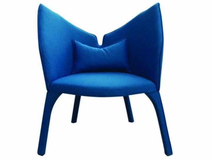 Wool armchair LADY B - ROCHE BOBOIS