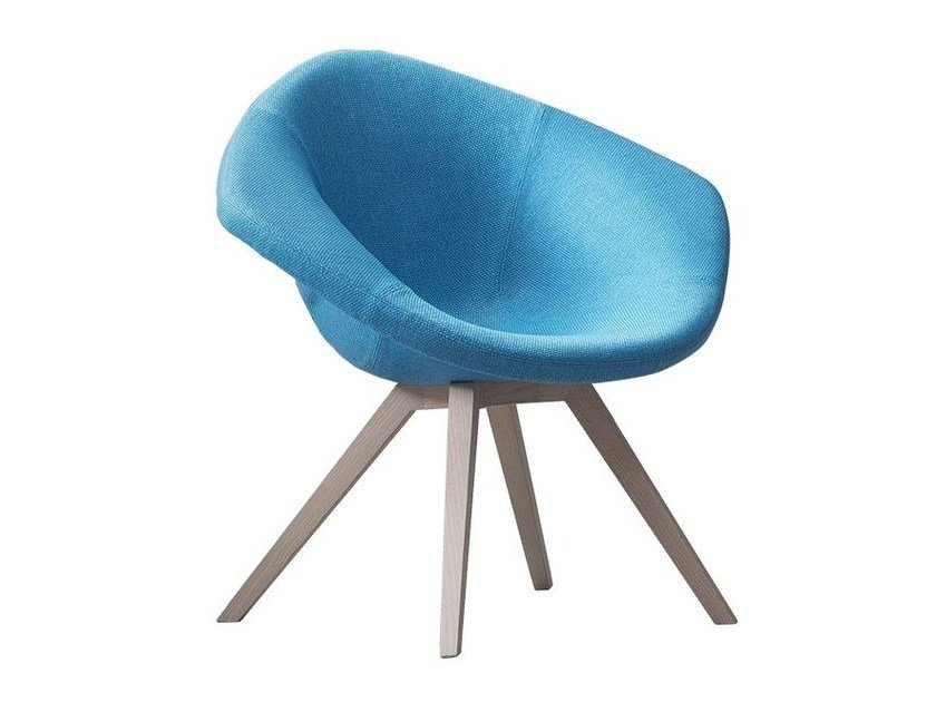 Fabric easy chair with armrests LADY by Chaarme