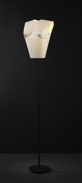 Contemporary style metal floor lamp LADY FL WW by ENVY