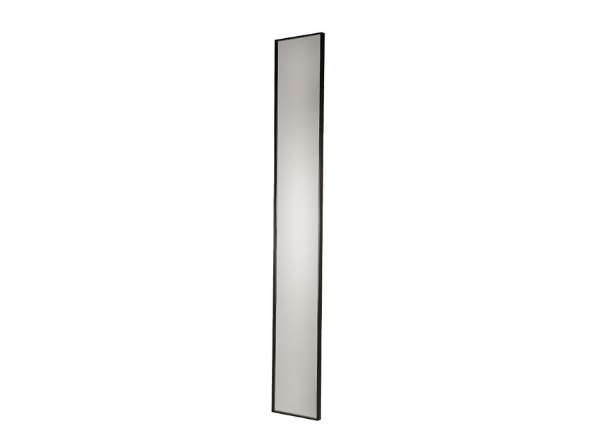 Rectangular wall-mounted framed mirror LAGOSTA - Branco sobre Branco