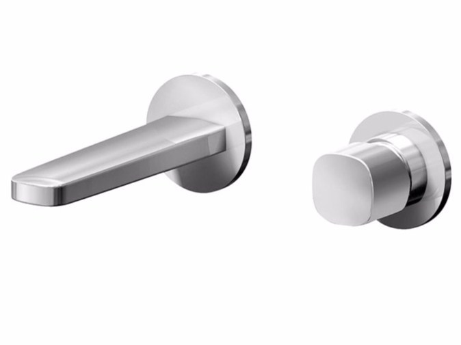 2 hole wall-mounted washbasin mixer LAMÈ | 2 hole washbasin mixer - Fantini Rubinetti
