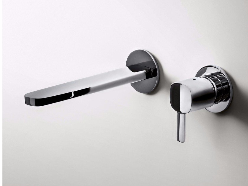 2 hole wall-mounted washbasin mixer LAMÈ | Wall-mounted washbasin mixer - Fantini Rubinetti