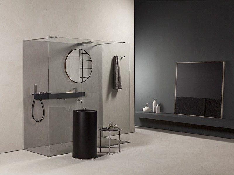 Tempered glass shower cabin LAMA by MAKRO