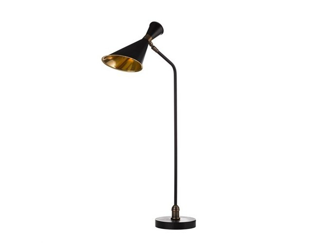 Brass desk lamp DESK BLACK/BRASS - Pols Potten