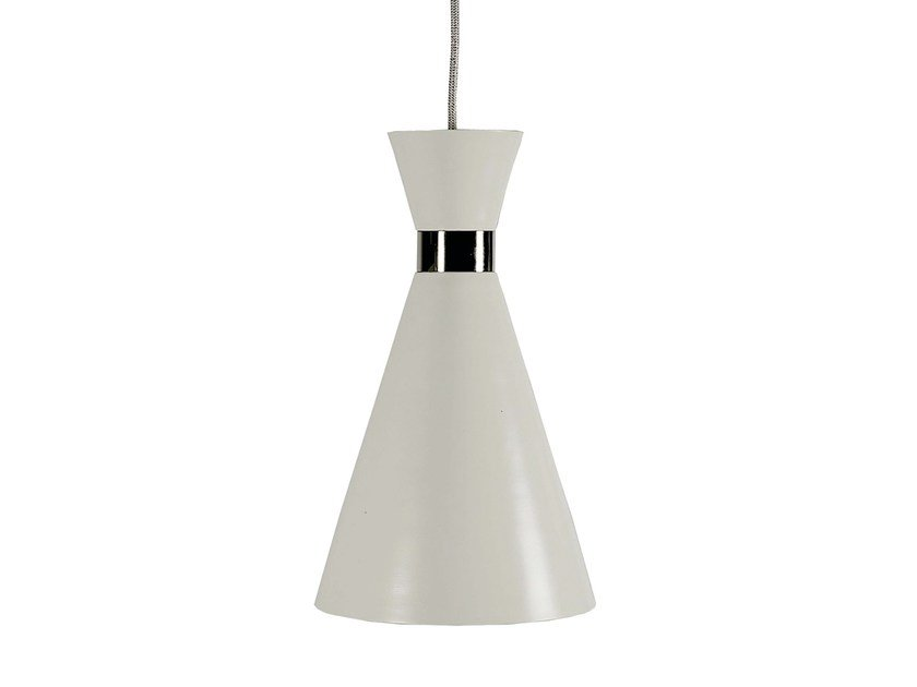 Direct light metal pendant lamp LAMPREIA | Pendant lamp - Branco sobre Branco