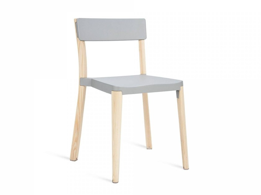 Stackable aluminium and wood chair LANCASTER | Chair - Emeco