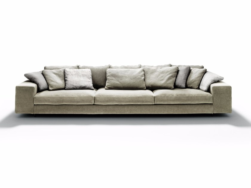 Fabric sofa with chaise longue LANDSCAPE - DE PADOVA