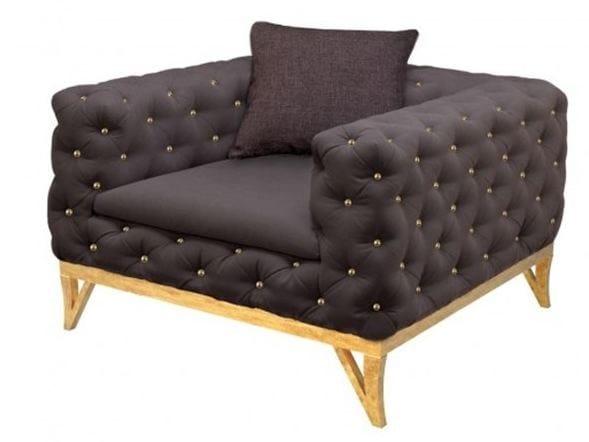 Tufted upholstered velvet armchair with armrests LANSBURY   Armchair - Ottiu