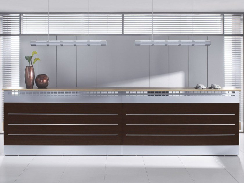 Modular reception desk LAP | Reception desk - BALMA