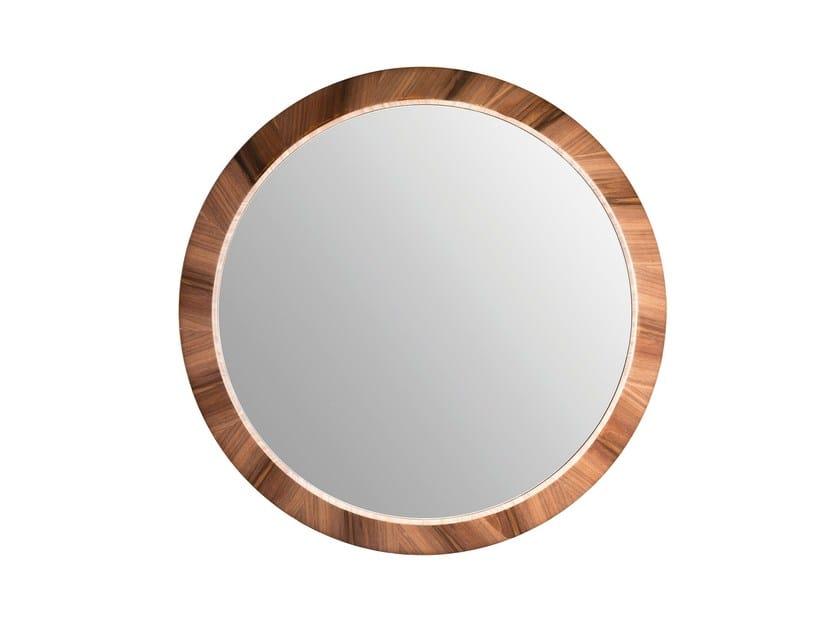 Round wall-mounted framed mirror LAPA - Branco sobre Branco