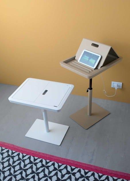 Tavolino orientabile rettangolare in stile moderno LAPTOP | Tavolino orientabile - ITALY DREAM DESIGN - Kallisté